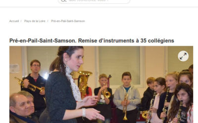 La classe orchestre à l'honneur dans le journal Ouest-France